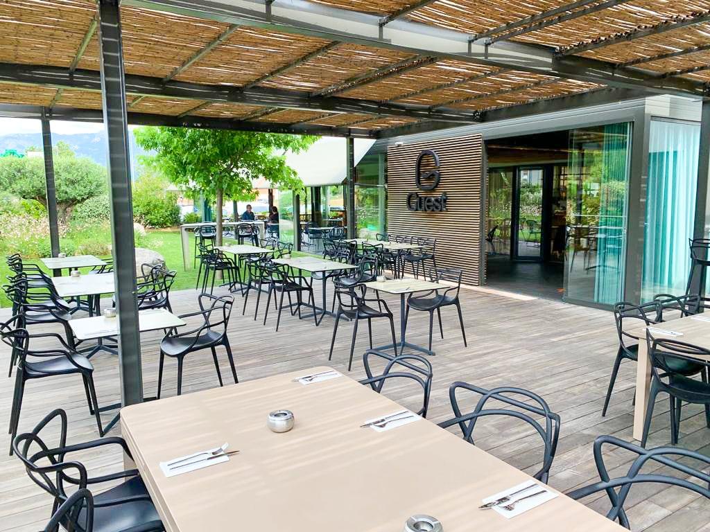 Terrasse Byguest restaurant Porto Vecchio